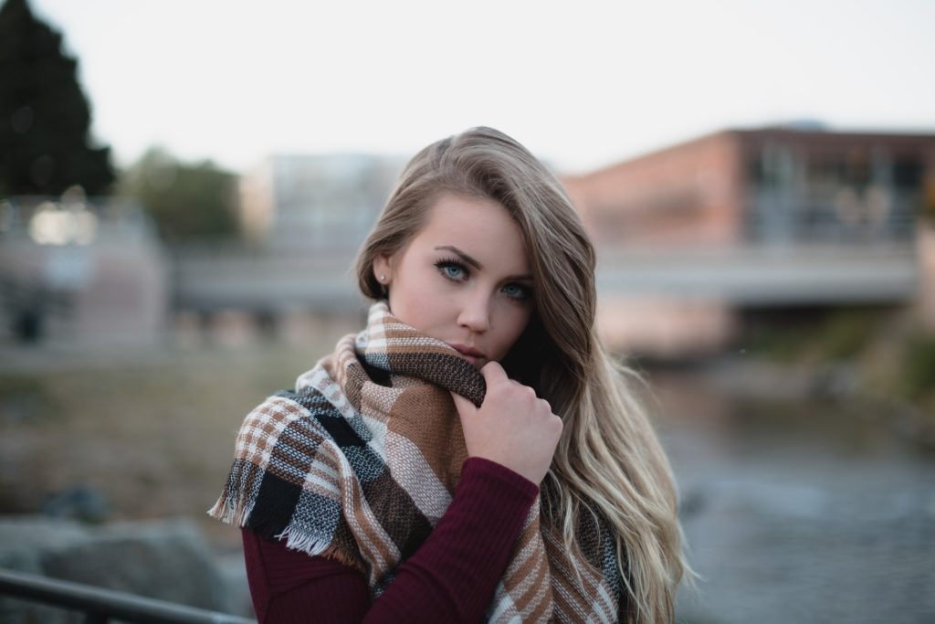 Beautiful Female In Winter Clothes
