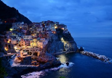 Cinque Terre Italy Rocks And Sunset Point