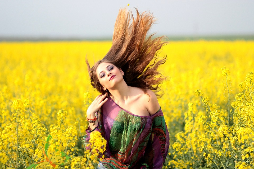 Alluring Girl Enjoying Nature