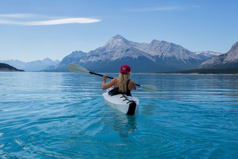 Girl Enjoying Water Adventure